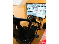 Next Level Racing Driving Simulator with Thrustmaster TS-XW Sparco steering Wheel and accessories