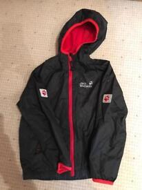 Jack Wolfskin rain jacket age 5-6