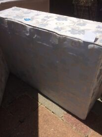 Double divan bed clean condition has small hole on one side of mattress