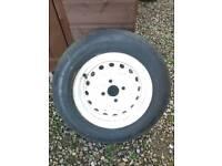 Caravan/trailer spare wheel