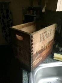 Vintage brewery crate
