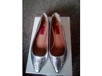 Size 5 silver ballet pumps