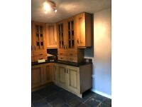 Solid wood Kitchen cabinets, Rangemaster cooker and Hood