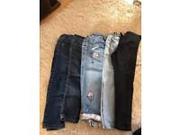 Girls jeans bundle 4-5