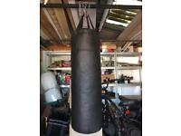 Punch bag plus 2 leather head guards
