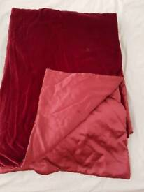 Velvet Bed Throw silk lined