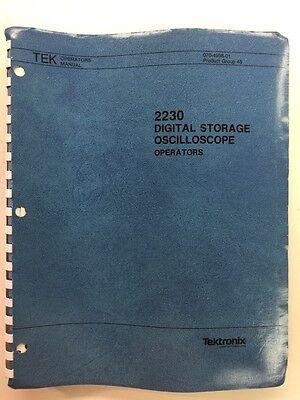 Tektronix 2230 Digital Storage Oscilloscope Operators Manual Pn 070-4998-01