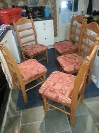 5 chairs for sale