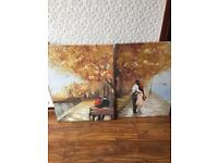 2 large canvases