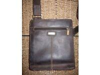 Vicsonti luxury leather messenger bag