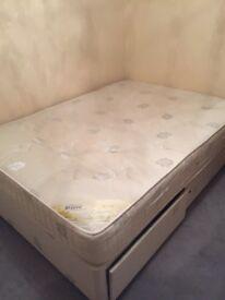 REPOSE 800 DIVAN DOUBLE BED £150ono