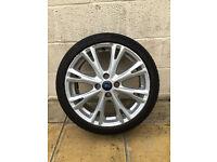 "Ford Fiesta Zetec ZS / ST 17"" Alloy Wheel Silver (MK6, MK7, MK8) - 2013 / 2014 (1 Single Wheel)"