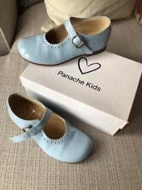 Kids Mary Jane shoes. Patent baby blue