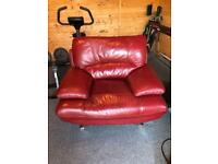 Vintage red leather chair