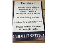Units to let Avonmouth £2per sq ft