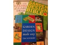 3 x Garden Design Books by Tim Newbury