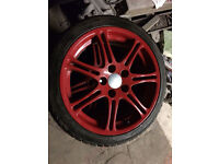 honda civic type r alloy wheels in red 2001 to 2005