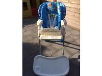 Chicco Polly 2 in 1 Highchair - boxed - excellent condition