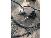 Motorbike Honda ps 125 Breaking wire and system