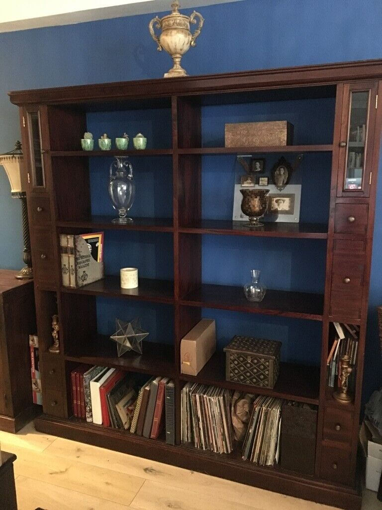 Reduced Large Solid Wood Bookcase With Stunning Dark Finish In Brighton East Sussex Gumtree
