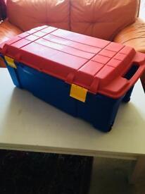 Plastic Storage Box x 2