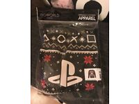OFFICIAL PLAYSTATION SYMBOLS CHRISTMAS JUMPER SIZE L