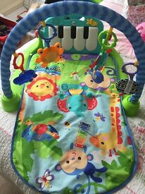 Fisher price piano and play gym