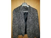 Animal print blazer jacket