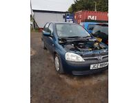 2004 VAUXHALL CORSA 1.0 PETROL 3 CYL BREAKING FOR PARTS