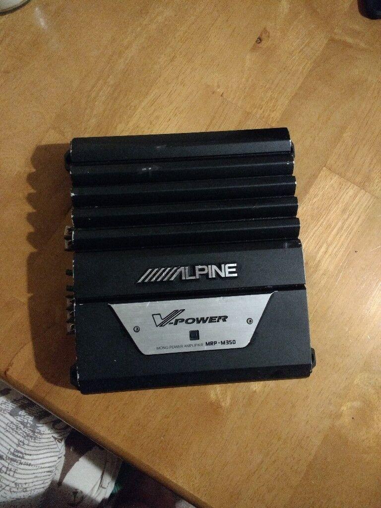 Alpine Mrp  Mono Block  Watt Car Amplifier For Sale