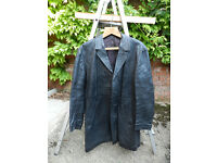 Vintage Men's Black Leather Jacket