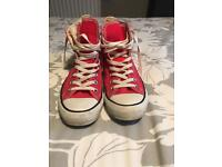 PINK CONVERSE HIGH TOPS SIZE 6 1/2 BARELY WORN £10