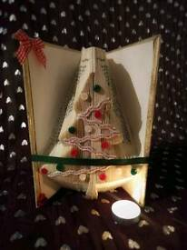 Christmas tree bookfolding, book fold, handmade gift, unique gift, Christmas gift.