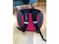2 x Trunki Boostapak car booster seat/backpacks. one pink/one green (RRP £45 each) – £30 for 2