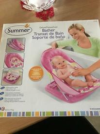Pink baby bath chair