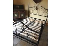 METAL DOUBLE BED FRAME £60 ono