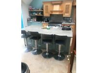 Large solid maple kitchen, excellent condition, includes marble worktops, island, sink etc