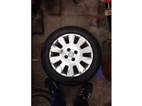 vauxhall corsa alloy with brand new tyre size 185/55/r15