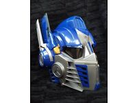 TRANSFORMERS OPTIMUS PRIME HELMET MASK DRESS UP MICROPHONE FOR VOICE CHANGER + BUTTON PHRASES SOUNDS