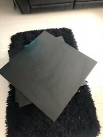 Black spin coffee table