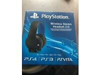 Official PlayStation wireless headset 2.0 Brand New