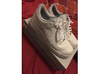 White Nike Air Force 1 (Size 11)