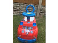 Paw patrol ride on car with sounds