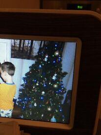 Pre lit led multicoloured ex dobbies 6ft Christmas tree