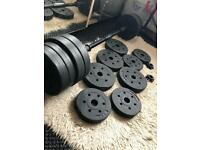 30kg bar bell and dumbbell set home gym fitness complete set