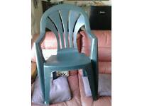 Green plastic table and 4 chairs new