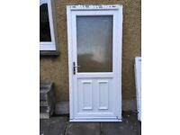 Good as new upvc back door with keys. Only reason is French doors installed. W 965mm x L 2080