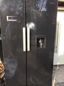 Black Gloss Beko non plumbed American fridge freezer