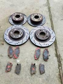 Honda civic type r ep3 ebc grooved brake discs and ebc redstuff pads all round