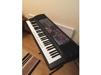 Casio musical keyboard with stand